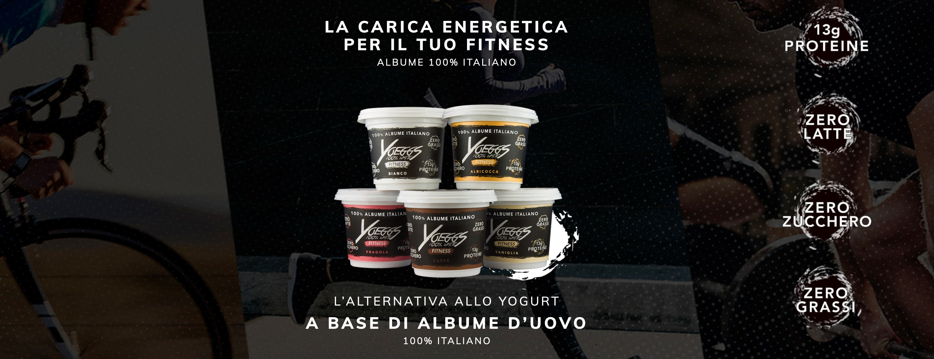 l'alternativa allo yogurt a base di albume d'uovo, yoeggs